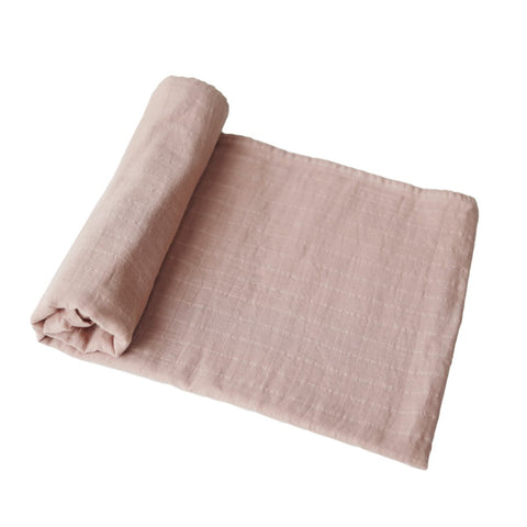 Blush Muslin Swaddle