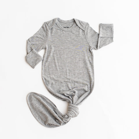Heather Gray Bamboo Infant Gown