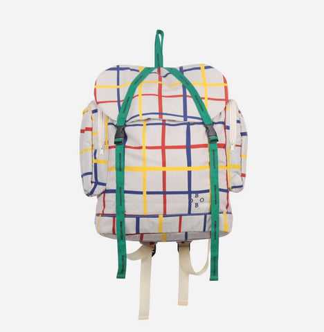Multicolour Check Backpack