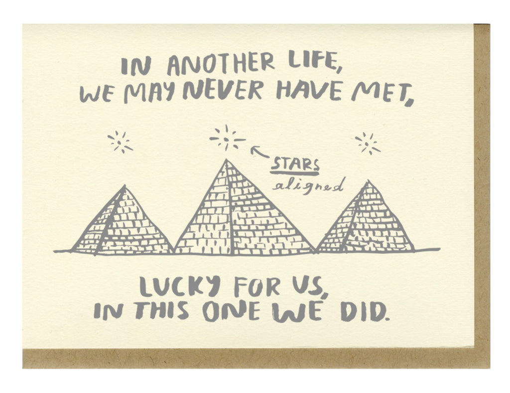 Lucky For Us- Greeting Card
