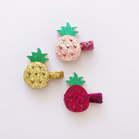 Sparkle Pineapple Hair Clip