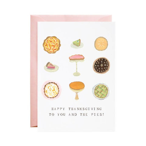 Happy Thanksgiving to You and The Pies card