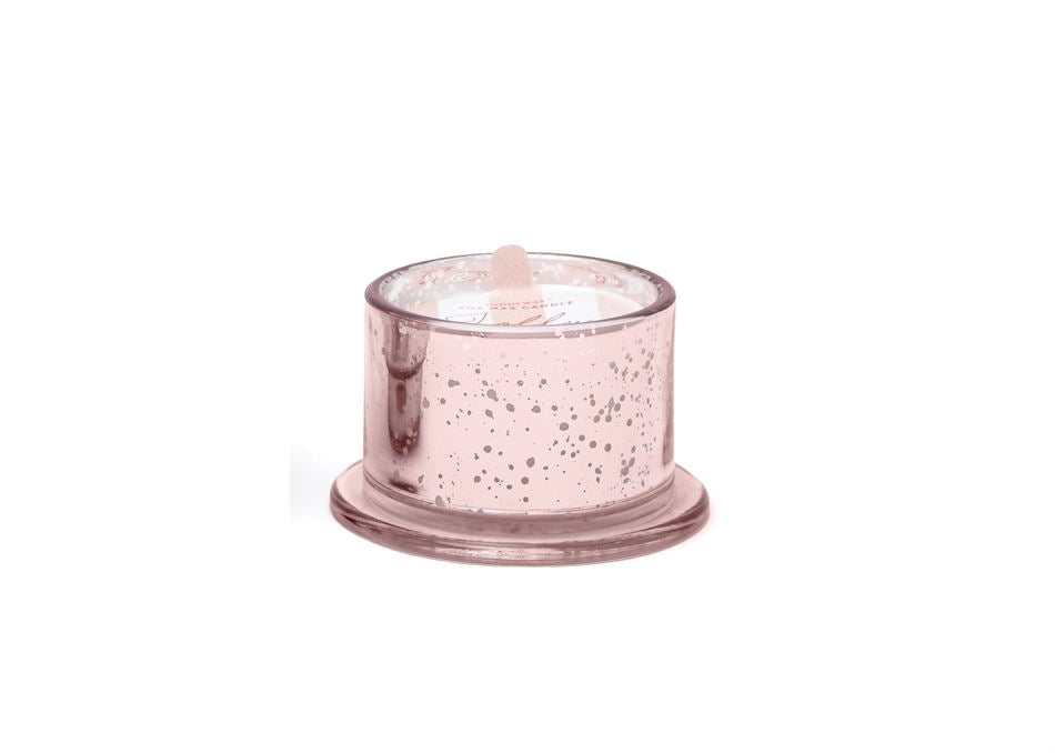 Glass Tinsel Candle- Jolly