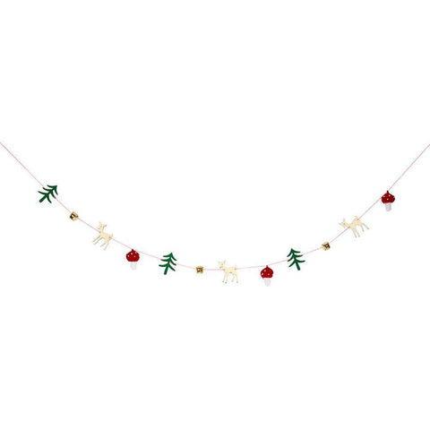 christmas woodland garland