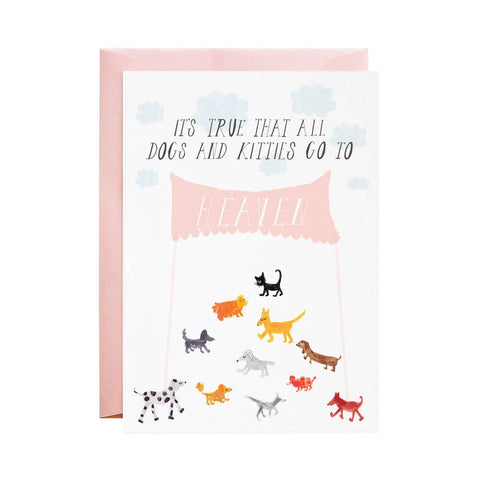 Dogs and Kitties in Heaven card