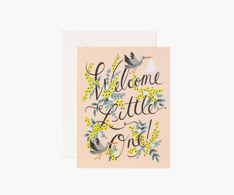 Welcome Little One- Baby Card