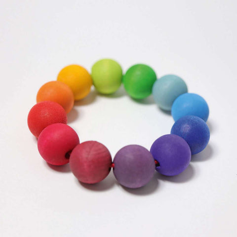Rainbow Bead Ring