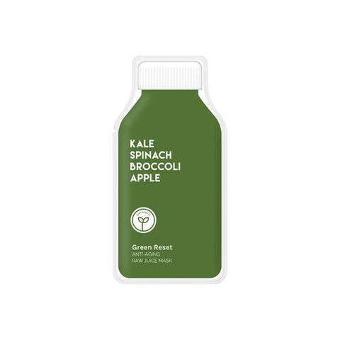green reset anti-aging raw juice mask
