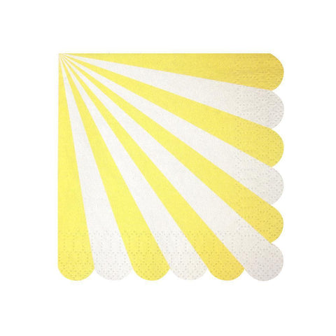 yellow fan stripes small napkins