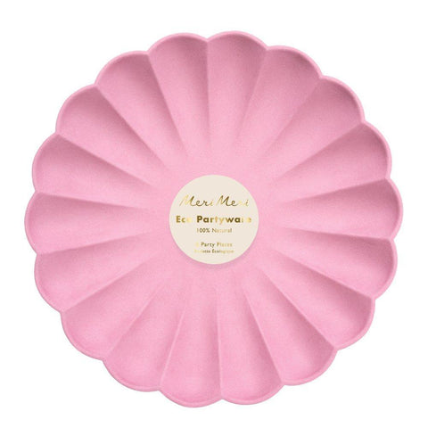 deep pink simply eco large plates