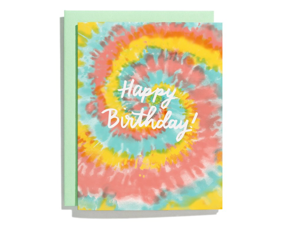 Tie Dye Birthday- Greeting Card