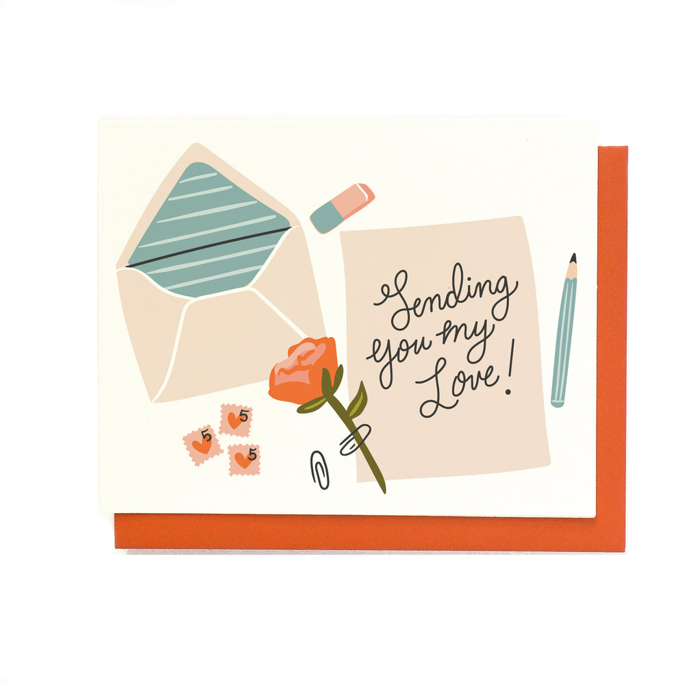 Sending My Love Greeting Card