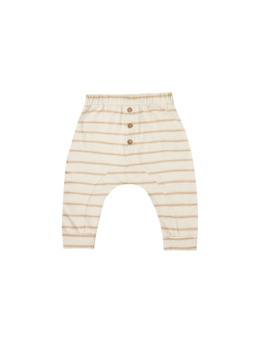 Striped Slub Pant- Almond and Natural
