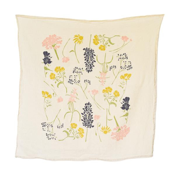 southern regional wildflowers towel