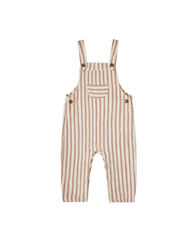 Striped Baby Overalls- Natural and Amber