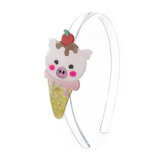 Ice cream Pig Headband