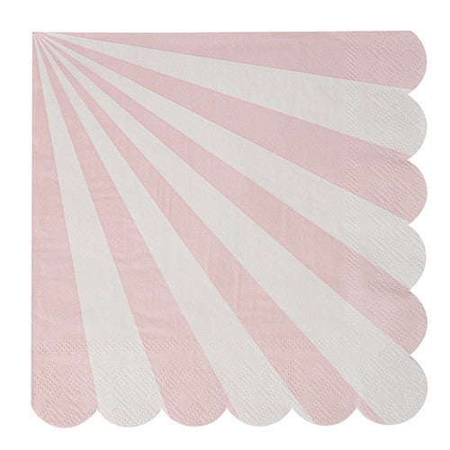 dusty pink striped large napkin