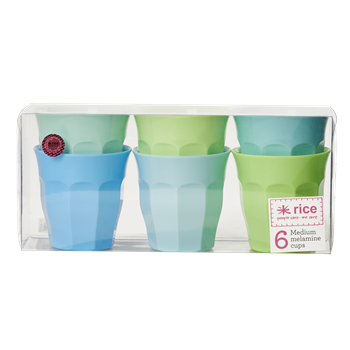 medium melamine curved cup in 6 assorted colors
