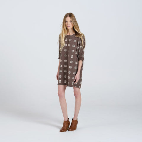 medallion slouch dress- women's