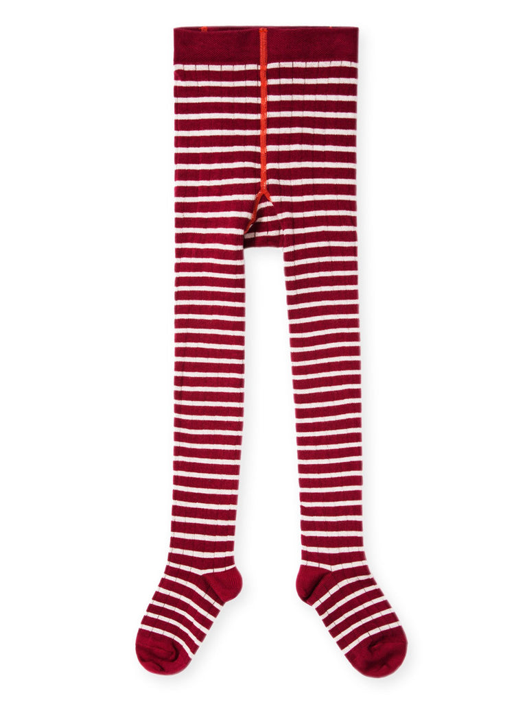 rib stripe tight- berry