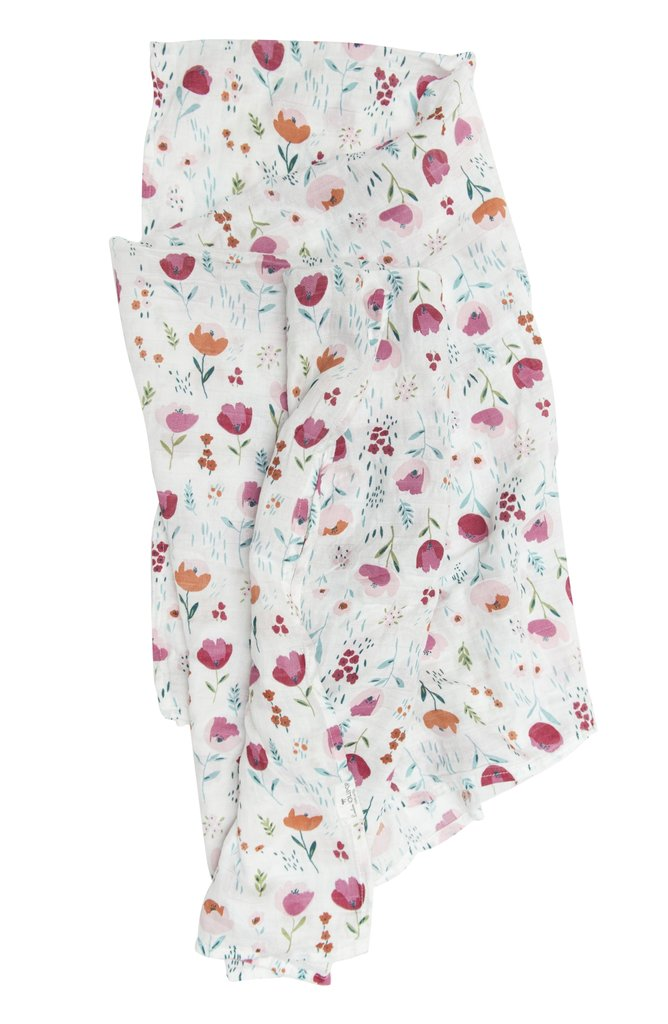 Rosey Bloom Muslin Swaddle