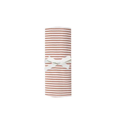 Rust Stripe Swaddle