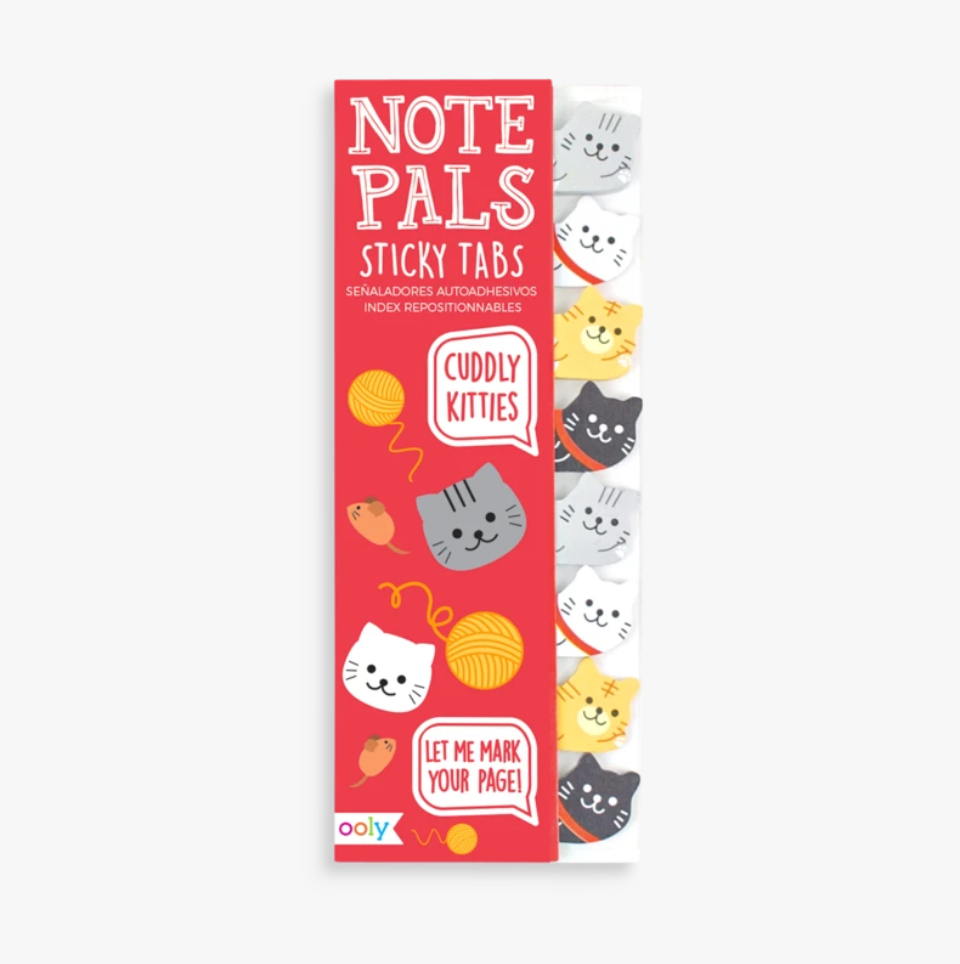 Note Pals Sticky Tabs - Cuddly Kitties