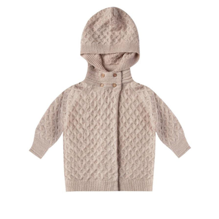 Oat Honeycomb Sweater Coat