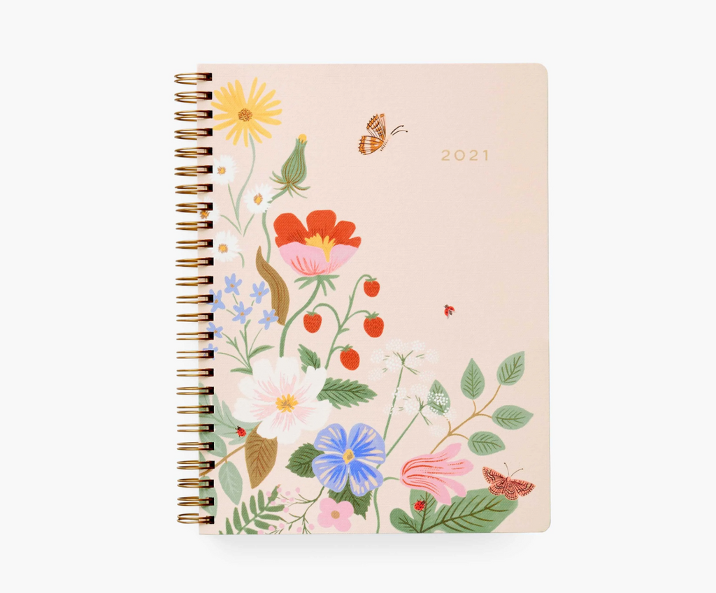 Strawberry Fields 12-month Softcover Spiral Planner