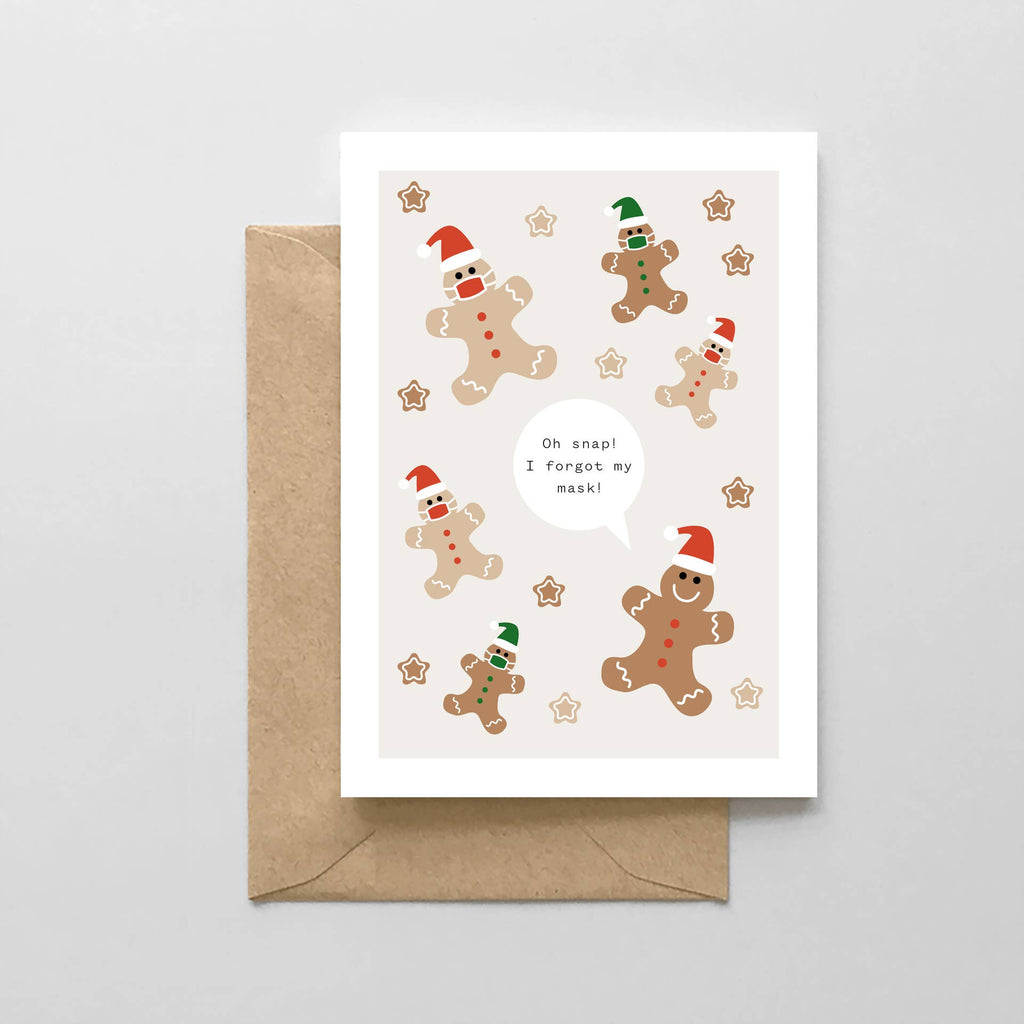 Gingerbread Masks Pandemic Holiday card