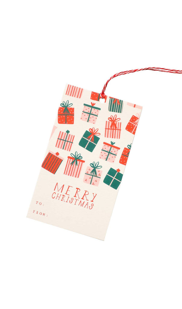 Merry Christmas holiday gift tags