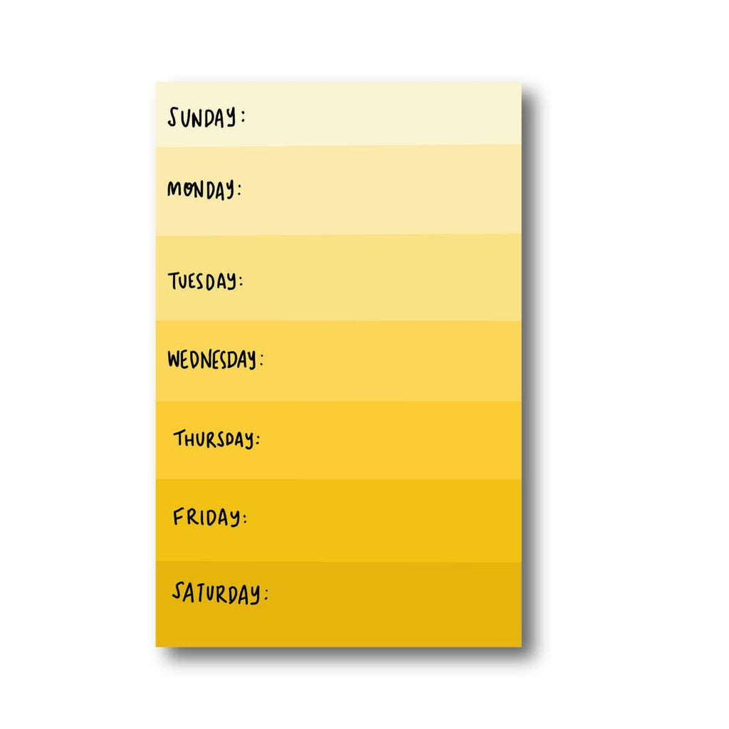 Yellow Day Planner