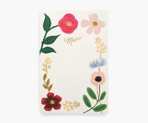 Wildflowers Large Memo Notepad