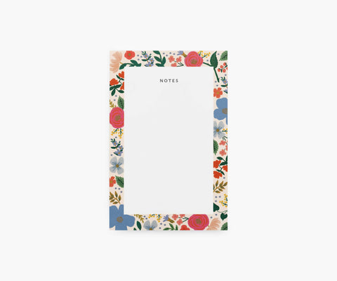 Wild Rose Blank Notepad