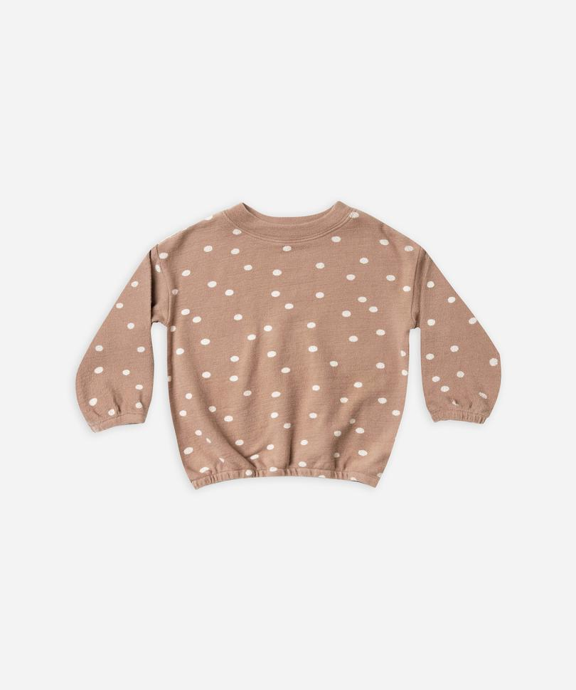 dot pullover sweater- truffle
