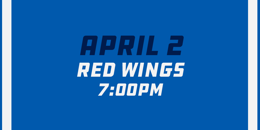 Apr 2nd vs Carolina Hurricanes - 7:30pm