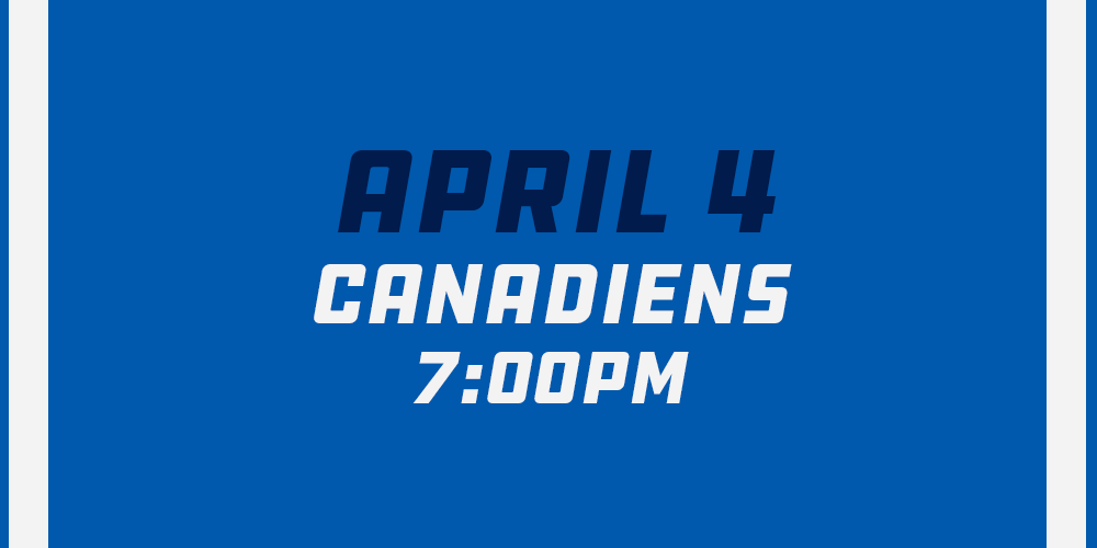 Apr 4th vs Tampa Bay Lightning - 7:00pm