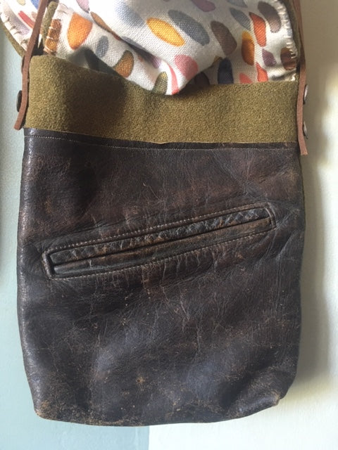 Jen's leather pocket bag