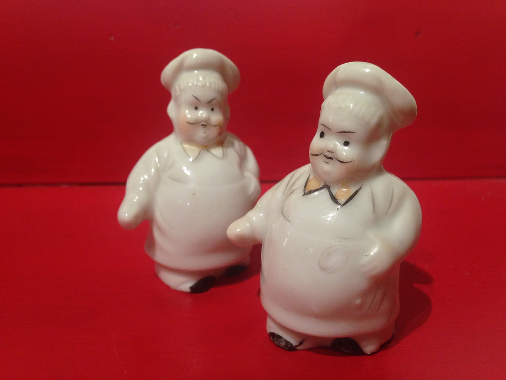 Antique Chef Salt and Pepper Shakers