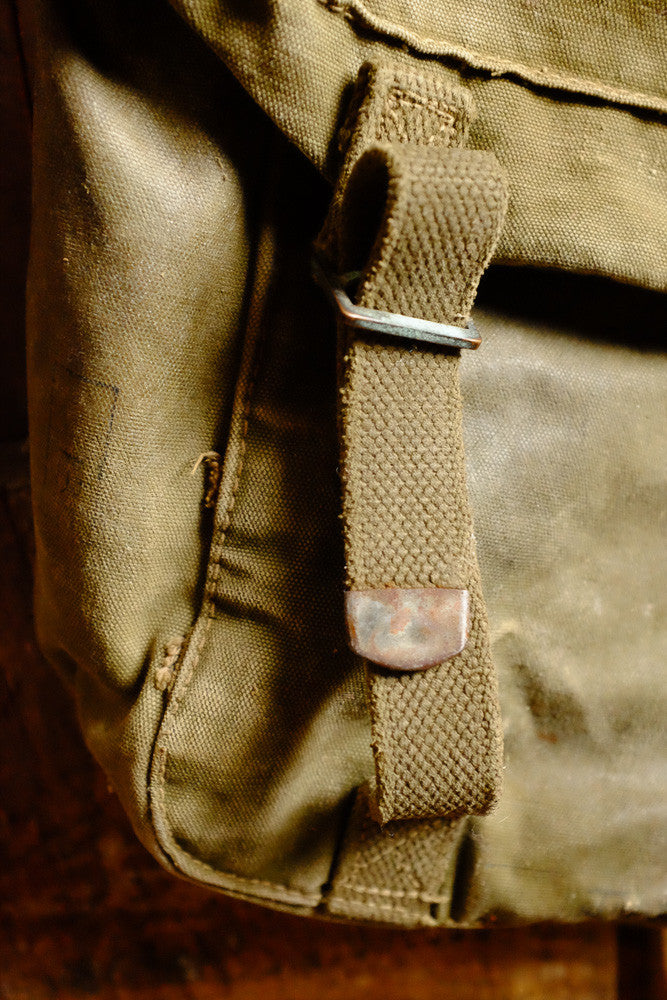 Vintage Army Shoulder Bag Front Strap Detail