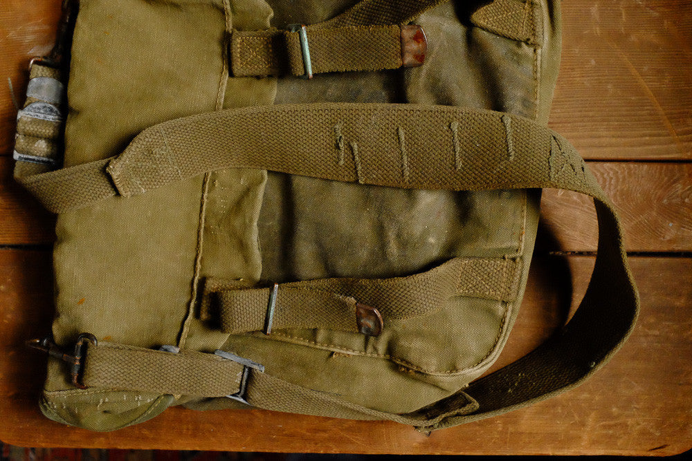 Vintage Army Shoulder Bag Detail