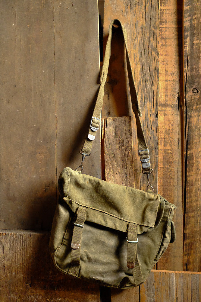 Vintage Army Shoulder Backpack