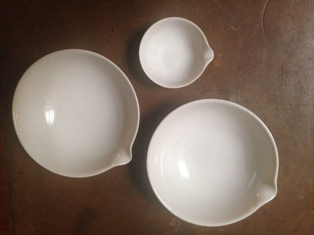 Derek's three vintage chemical bowls