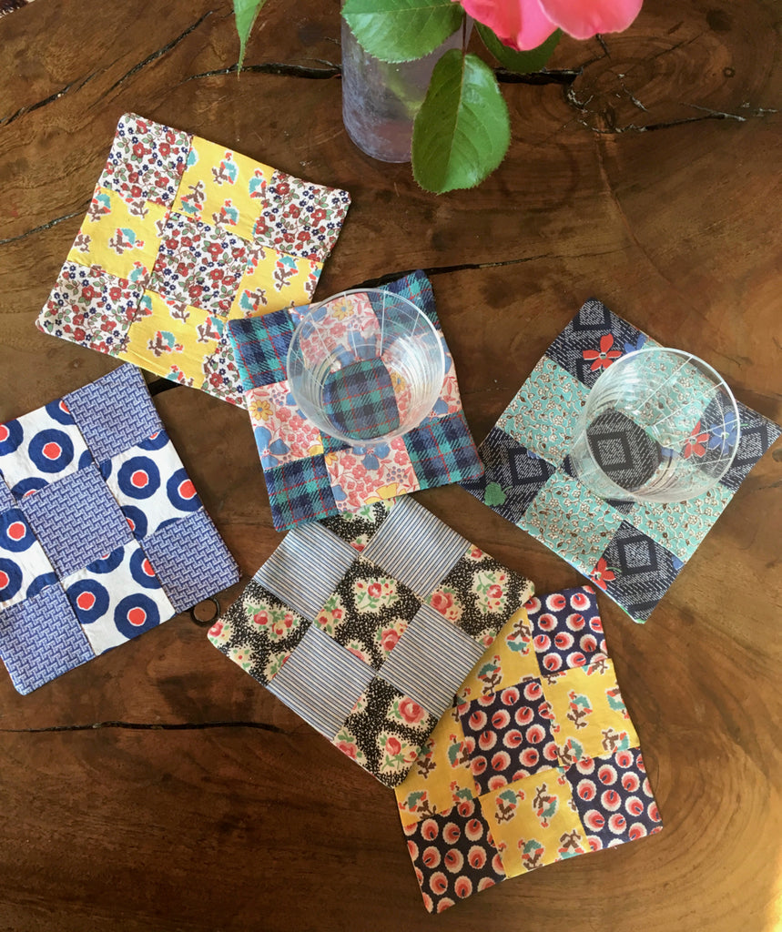 Coco's six patchwork cupcake coasters