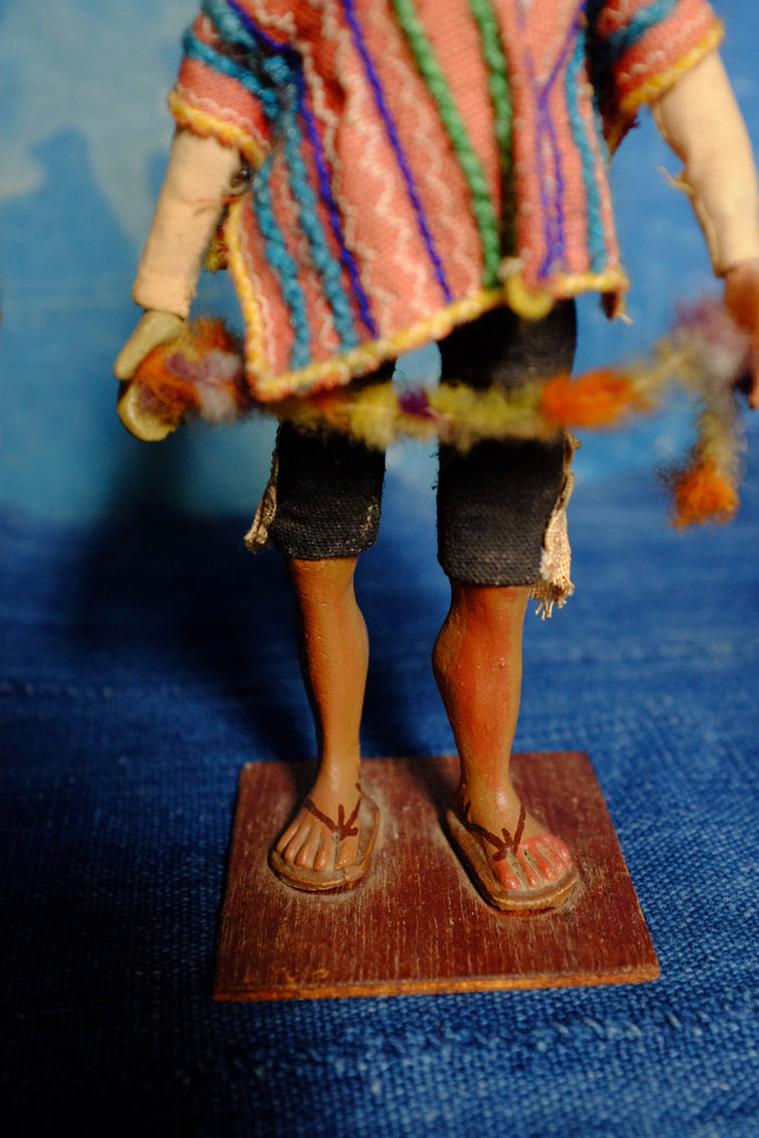 Heather's  two vintage Peruvian folk dolls