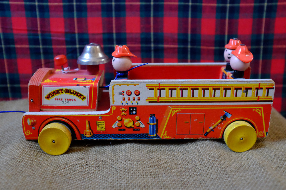 Sammy's firehouse pull toy