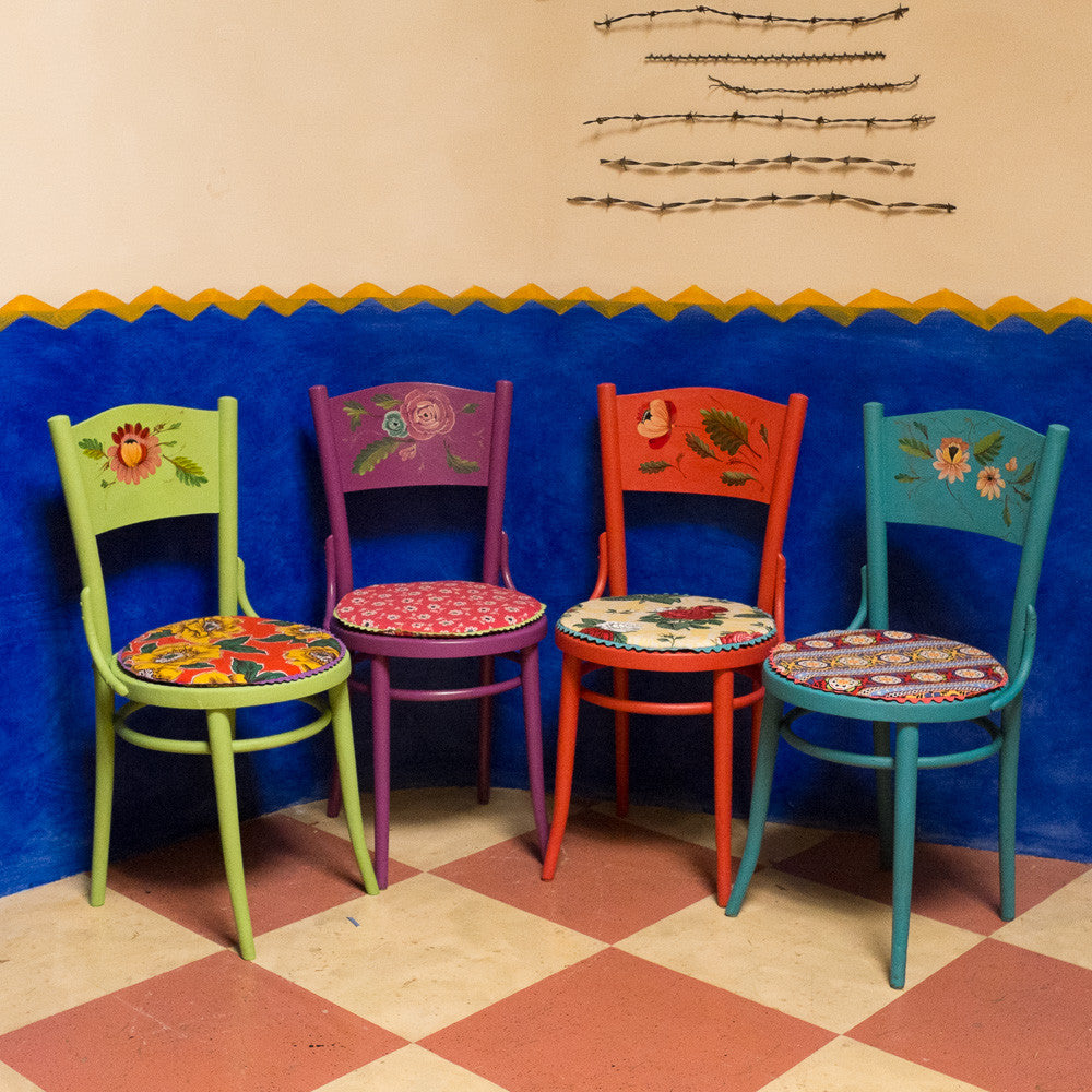 Luisa's hand painted chairs