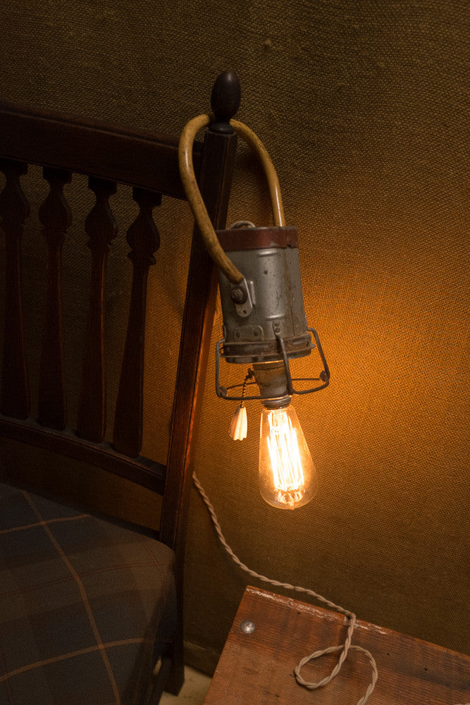 Rustic Industrial Reading Lamp