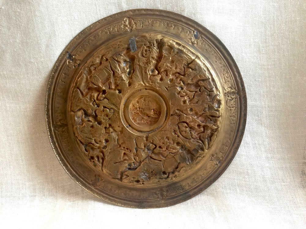 Desiree's brass wall plate