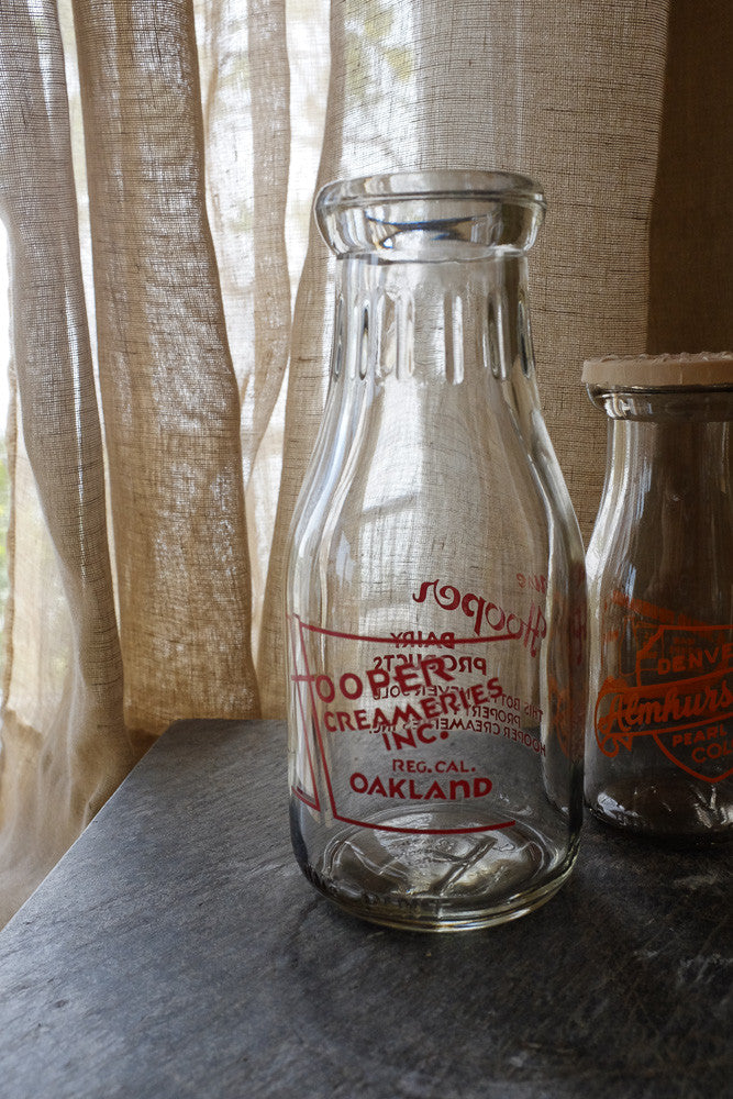 Mildred's memories in a milk bottle